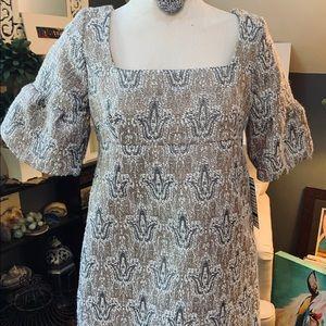 BB DAKOTA Mini Dress NWT Sz Lg Metallic threads